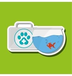 Animal shop design vector image