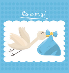 Baby shower card happy invitation vector