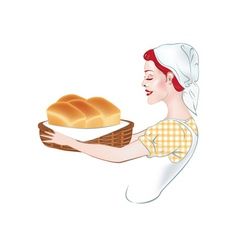 Baker with Fresh Bread vector
