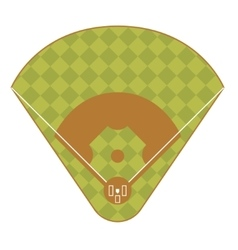 Baseball Game Field Top View vector image