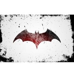 Bat symbol Bat poster Grunge poster Poster vector image