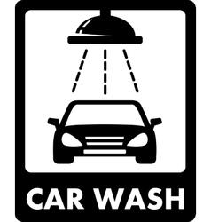 black car wash icon vector image
