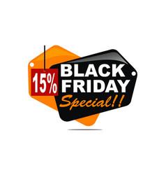 black friday special discount 15 percent vector image