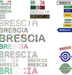 Brescia text design set vector