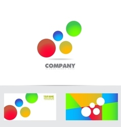 Bubble colors logo vector image