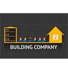 Building company emblem vector