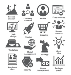 Business management icons pack 29 vector