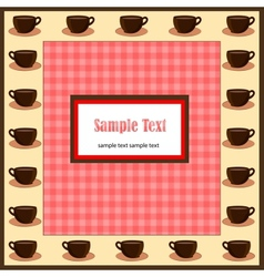 Card with coffee cups vector image vector image