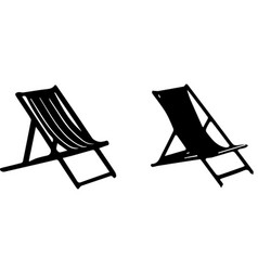 Chair on beach icon on white background vector
