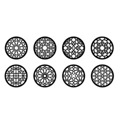 circle cnc decor set round elements for laser vector image