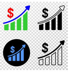 composition of gradiented dotted success financial vector image