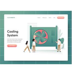 cooling system concept modern design concept vector image