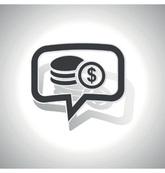Curved dollar rouleau message icon vector