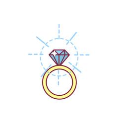 Diamond bridal ring vector