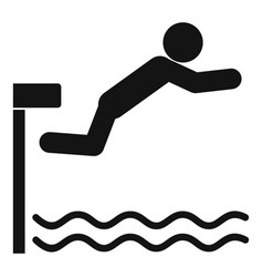 Diving board icon simple style vector