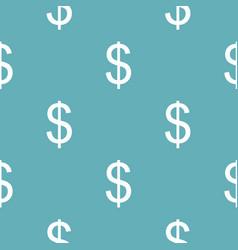 dollar pattern seamless blue vector image