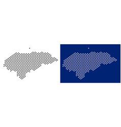 Dotted honduras map vector