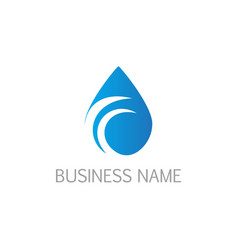 Droplet water bio logo vector