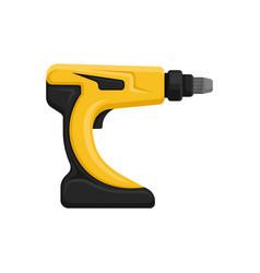 Flat of yellow-black cordless drill vector
