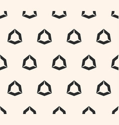 Geometric seamless pattern with hollow diamond vector