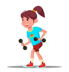 girl engaging in fitness sport healthy vector image