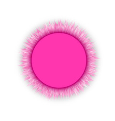 glamorous pink blank round 3d round frame vector image