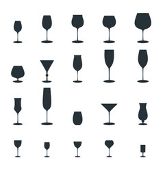 glass vine glass icon vector image