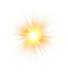 Glow light effect explosion glitter spark sun vector