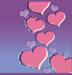 Hearts design symbol of love backgroud decoration vector