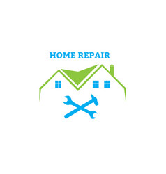 Home repair emblem vector