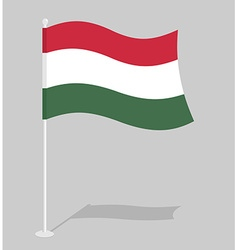 Hungary Flag Official national symbol of Hungarian vector image