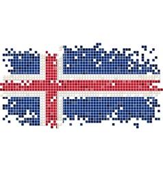 Icelandic grunge tile flag vector