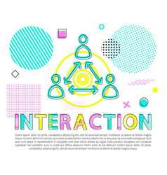 interaction between people abstract banner vector image