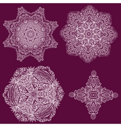 lacy arabesque vector image