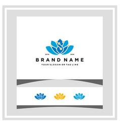 Lotus tech logo design concept vector