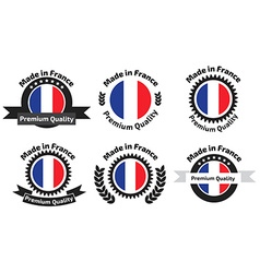 Made in Franse badges set vector image