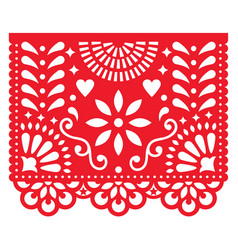 mexican paper decorations - papel picado vector image