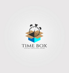 Modern delivery clock logo template logo vector