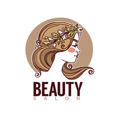 Nature beauty sketch image girl face vector