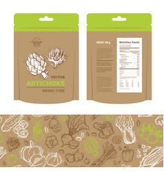 Organic market kit vector