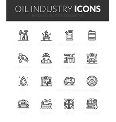outline black icons set vector image