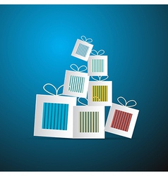 Paper Abstract Gift Present Boxes vector image