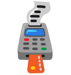 payment terminal vector image