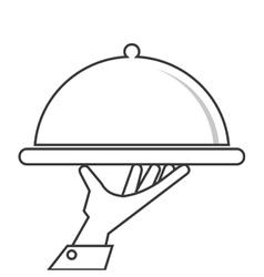 Plate menu food restaurant design vector