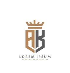 Premium ak monogram two letters ak elegant vector