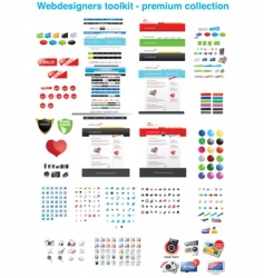 premium icon collection vector image
