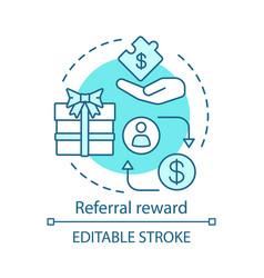 Referral reward concept icon marketing strategy vector