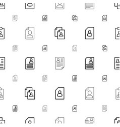 Resume icons pattern seamless white background vector