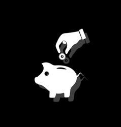 saving money with piggy icon flat vector image
