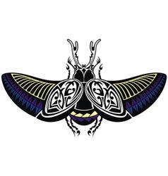 scarab beetle tattoo style vector image